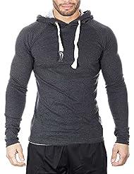 SMILODOX Slim Fit Kapuzenpullover Herren | Hoodie für Sport Fitness Gym Training & Freizeit | Sportpullover - Sweatshirt - Kapuzenpulli - Pulli - Hoody