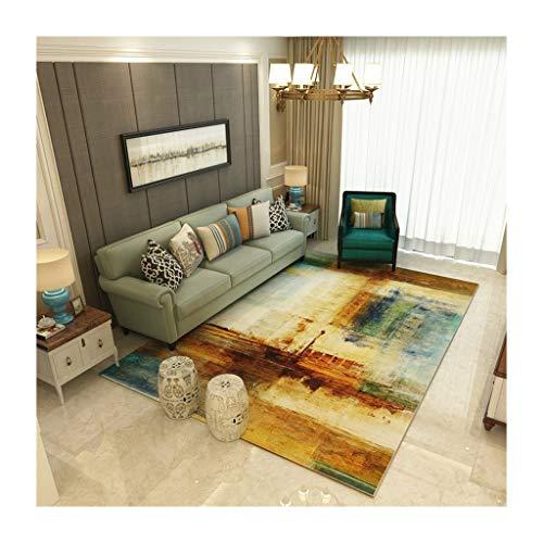 GZP Teppiche Teppich American Home Wohnzimmer Couchtisch Teppich Einfache Europäische Teppich Schlafzimmer Anti-Rutsch-Matte Decke (Farbe : A, größe : 120cm*160cm) -