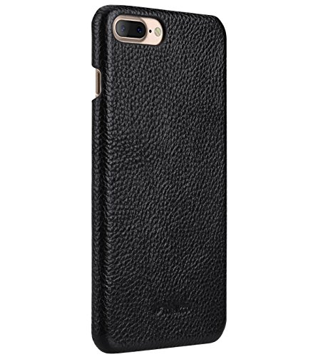 Apple Iphone 7 Melkco Jacka Type Premium Leather Case with Premium Leather Hand Crafted Good Protection,Premium Feel-Red LC Black LC 1