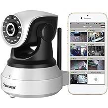 Sricam Cámara IP, Cámara de Vigilancia WiFi Interior Inalámbrico, HD P2P con Micrófono y Altavoz, Visión Nocturna, Detección de Movimiento, Seguridad para Bebé y Mascotas, Compatible con iOS, Android