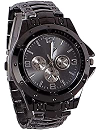 Freny Exim Luxurious And Unique Black Belt Black Dial Mens Analog Watches For Boys