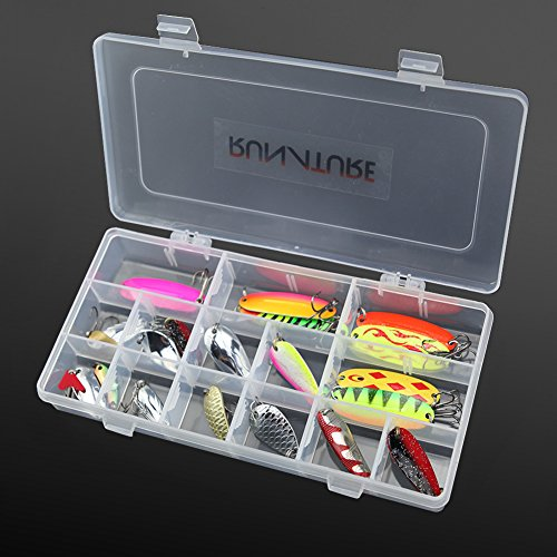 RUNATURE Kit de 12/20pcs Cuillères de Pêche à la...