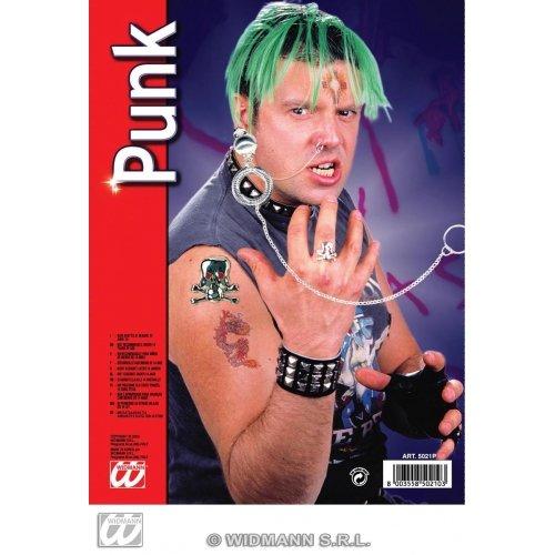 -ac0161-Set Schmuck Punk Ring Totenkopf ()