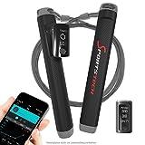 Sportstech Profi Springseil RJX500 mit Smartphone App und Bluetooth 2in1 Tracker – High-Speed Rope perfekt für Fitness-Training, Crossfit, Boxen und Abnehmen, elektronisches Sprung-Seil