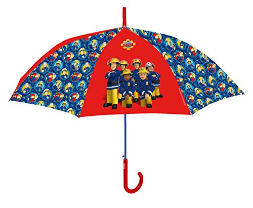 Feuerwehrmann Sam Regenschirm für Kinder, 100% POE, sehr robust - ideal für Ausflüge geeignet, Durchmesser 76cm (Poe Für Kinder)