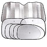 Upper-7 piezas de automoción escudo sombrilla sun-aislado de visera solar engrosamiento de la placa de blindaje Bloque delantero,Sunscreen Set