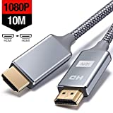 Cable HDMI 10 Metros, Cable HDMI de Alta Velocidad soporta Ultra HD, Ethernet,3D,2160P,...