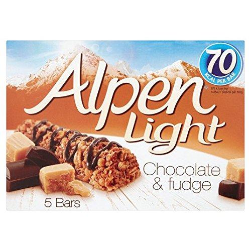 Alpen Lumière Bars & Fudge Choc 5 x 19g