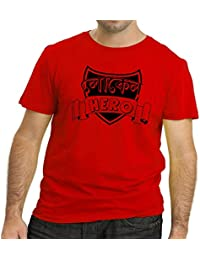 75ceaf136 HEYUZE Printed 100% Cotton Half Sleeve Male/Men Round Neck Red T Shirt with