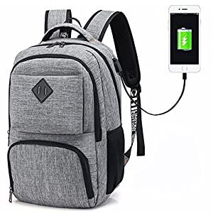 51CrSdRumiL. SS300  - Hotchy Mochila para portátiles, Laptop Business Mochila para Mujeres Hombres Mochila Escolar con Puerto de Carga USB y…