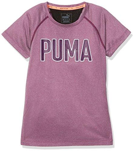 PUMA Kinder Training Graphic Tee T-Shirt, Dark Purple Heather, 140 (Sport T-shirt Graphic)