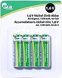 tka Köbele Akkutechnik NIZN Akku: Nickel-Zink-Akku AA Mignon, 1,6 V, 1500 mAh, 4er-Set (NIZN Akkus)