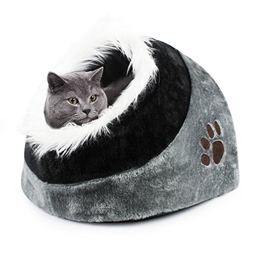 Dele a su amado gato o perro un pequeño y acogedor hogar con esta lujosa y cómoda cueva para mascotas. Cada animal anhela la seguridad y la comodidad de su propio espacio y esta cueva de mascotas les dará un santuario para llamarlo propio. La ropa de...