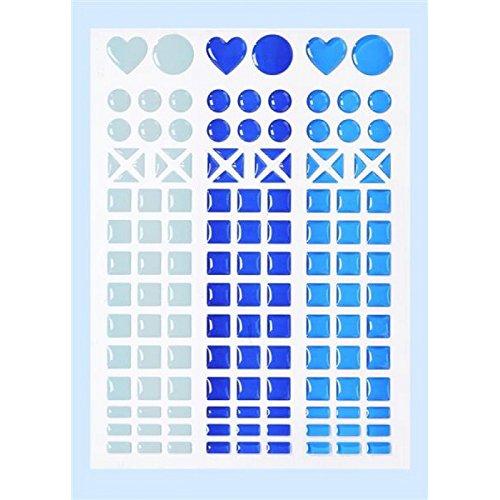 Autocollants mosaïque-bleu clair, bleu foncé, bleu roi 3451803 autocollants