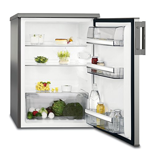 AEG RTB81521AX Kühlschrank / freistehender Kühlschrank ohne Gefrierfach / 150 l Kühlschrank mit Glasablagen / Edelstahl mit Anti-Fingerprint / energieeffizienter Kühlschrank (A++) / H: 85 cm / silber