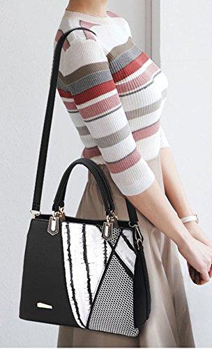 Maibaoma Pu neuer Stil Damen Handtaschen, Hobo-Bags, Schultertaschen, Beutel, Beuteltaschen, Trend-Bags, Velours, Veloursleder, Wildleder, Tasche Schwarz