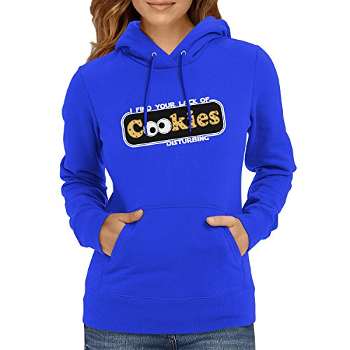 Kostüm Ideen Cookie Monster (TEXLAB - Lack of Cookies - Damen Kapuzenpullover, Größe M,)