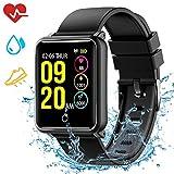 Mpow Montre Connectée Bracelet Connecté Smartwatch Étanche IP68 avec Caméra de...