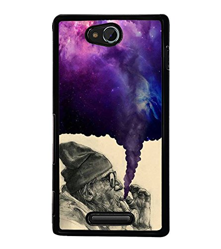 FUSON Drug Addict Smoke Cigarette Designer Back Case Cover for Sony Xperia C S39h :: Sony Xperia C C2305  available at amazon for Rs.358