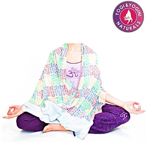 Yogamasti Yoga scarf-wrap-meditation-gayatri Mantra (morbido bianco)