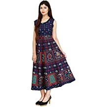 Narsinh Women's Cotton Dress (Multicolor,Free Size)