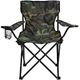 Story@Home Quad Portable Folding Camping Chair, Camouflage Green
