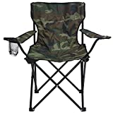 Story@Home Quad Light weight Portable Folding Camping Chair, Camoflage Green