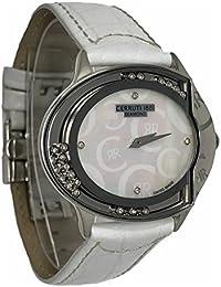Cerruti 1881Diamond Reloj 40X 32mm blanco madre de Pearl, Real movimiento diamantes