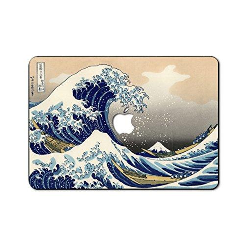 Ölgemälde Kollektion Hochwertige Hartschale Ultra Dünn Snap Case Schutzhülle Für New MacBook Pro 15 Zoll mit Touch Bar(Modelle: A1707) (die große welle von kanagawa) (Kunststoff-halloween-taschen)