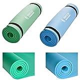 Hansson.Sports Yogamatte Gymnastikmatte Fitnessmatte von Premium Qualität, SGS-geprüft, 100% schadstofffrei, Größe: 180 x 60 x 1,2 cm, mit Tragegurte, verschiedene Farben (Hellblau)