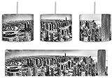 Monocrome, Dubai Hotel Burj al Arab inkl. Lampenfassung E27, Lampe mit Motivdruck, tolle Deckenlampe, Hängelampe, Pendelleuchte - Durchmesser 30cm - Dekoration mit Licht ideal für Wohnzimmer, Kinderzimmer, Schlafzimmer