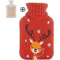 Gummi Heiße oder kalte Wasserflasche Cotton Cover 1 Liter preisvergleich bei billige-tabletten.eu