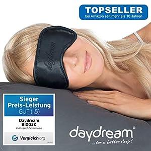 daydream Premium Schlafmaske, Frauen & Herren | Topseller seit 10 Jahren | Sieger beim Test von Vergleich.org (enthält KEIN Kühlkissen) | Schlafmasken | Schlafbrille | Augenmaske | Augenklappe B-1002-NC