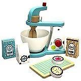 TikTakToo Spielzeug-Mixer mit Zubehör Holzspielzeug Kinderküche Haushaltsgeräte Rollenspiel