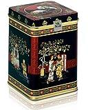 APFELSTRUDEL MIT PISTAZIEN - Rooibusch-Tee - in einer Black Jap Dose eckig (Teedose) - 147x147x214mm (1 Kilo)