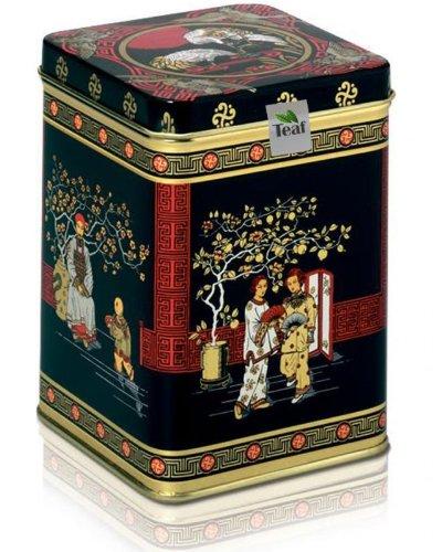 SIKKIM TGFOP1 SECOND FLUSH TEMI – schwarzer Tee – in einer Black Jap Dose eckig (Teedose) – 147x147x214mm (1 Kilo)