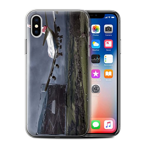 Stuff4 Gel TPU Hülle / Case für Apple iPhone X/10 / Londons Brenn Muster / Vorstellen Kollektion Harten Landung
