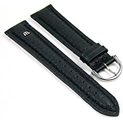 Maurice Lacroix Replacement Band Watch Band Leather Tiago black leather 21725S, width:14mm