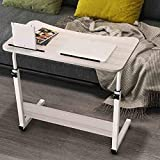 LLA Adjustable Laptop Table,Lifting Notebook Stand Removable Portable Standing Bed Desk Simple Sofa Breakfast Tray Lazy Portable Adjustable Stand Dormitory Bedside Computer Desk Student Small De,L8