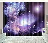 HONGYZCL Digitaler Vorhang des Sternenhimmels 3D Der Bank 3D Geeignet Für Hauptschlafzimmerwohnzimmer,264Cm(W)×160Cm(H)