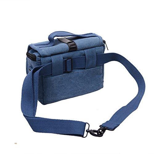 Z&HXborsa a tracolla Fotografia borsa fotografica reflex impermeabile multifunzione , yellow Blue