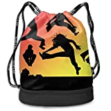 NasNew Dance Jump Print Drawstring Bags - Simple Hiking Sack