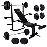 CCLIFE Banc de musculation multifonction inclinable support d'halteres