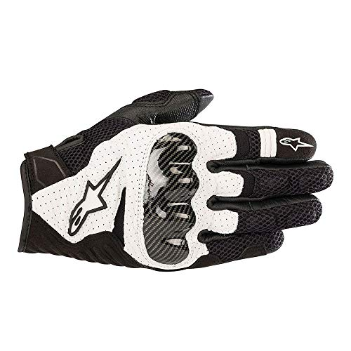 Alpinestars SMX 1 Air V2 - Guantes de motorista (talla XL), color negro y blanco