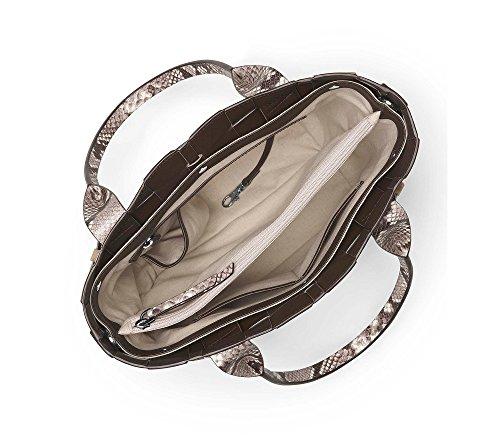 Michael Kors Vivian 30T6SVET2N Damen Tasche Handtasche Henkeltasche Abendtasche Schultertasche Umhängetasche Shoppingbag natural/dark dune