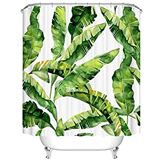 YONG-SHENG Cortina de Ducha Impermeable a Prueba de Moho con Ganchos, Antibacteriana, Fácil de Limpiar, Cortinas de Ducha Lavables para el Baño,180x180cm