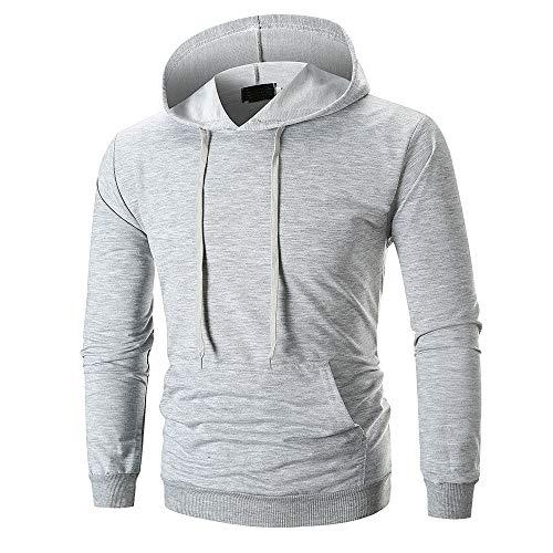 Sannysis Herren Slim Fit Hoodie Kapuzen-Sweatshirt Pullover Sweat Jacke Langarm Outwear Bekleidung Bluse Tops