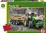 Schmidt Spiele Puzzle 56314 John Deere Traktor 7310R, 60 Teile Kinderpuzzle, bunt
