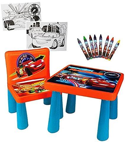 Set _ Tisch & Stuhl - incl. Malvorlagen + Stifte