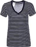 Levi's Damen T-Shirt Essential V Neck, Mehrfarbig (Pacifica Maritime Blue/Cloud Dancer 0026), Small (Herstellergröße: S)